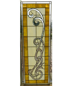 60,5 x 180 cm - Glas in lood raam Indonesië No. 55
