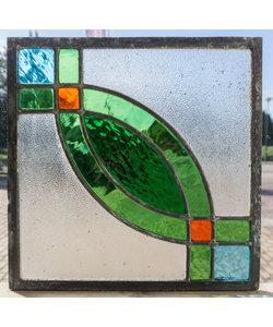 30 x 30 cm - Glas in lood raam Indonesië No. 57