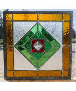30 x 30 cm - Glas in lood raam Indonesië No. 59