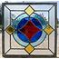 30 x 30 cm - Glas in lood raam Indonesië No. 60