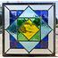 30 x 30 cm - Glas in lood raam Indonesië No. 62