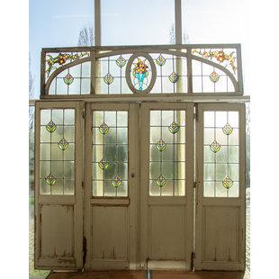 276 x 262 cm - Set glas in lood deuren No. 131