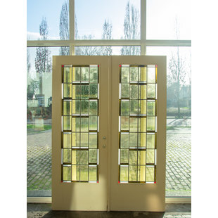 223 x 162,5 cm - Set glas in lood deuren No. 132