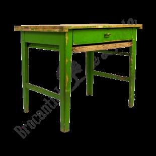 Vintage werkbankje - groen
