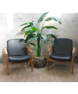 Vintage fauteuils - Zwart
