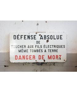 Frans waarschuwingsbord  -  Electriciteit