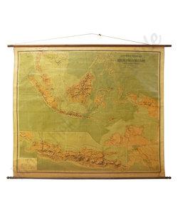 Grote landkaart - Nederland/Oost-Indië
