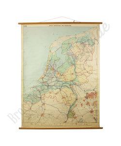 Eerste wandkaart van Nederland