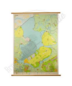 Vintage landkaart 'IJsselmeergebied'