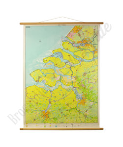 Vintage landkaart - Delta gebied