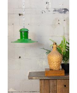Vintage hanglamp 'UFO middle green'