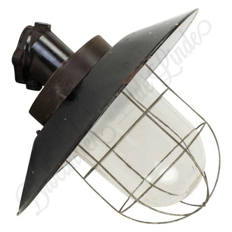 """Industriële kooilampen """"Petrovice"""" wandmodel bakeliet"""