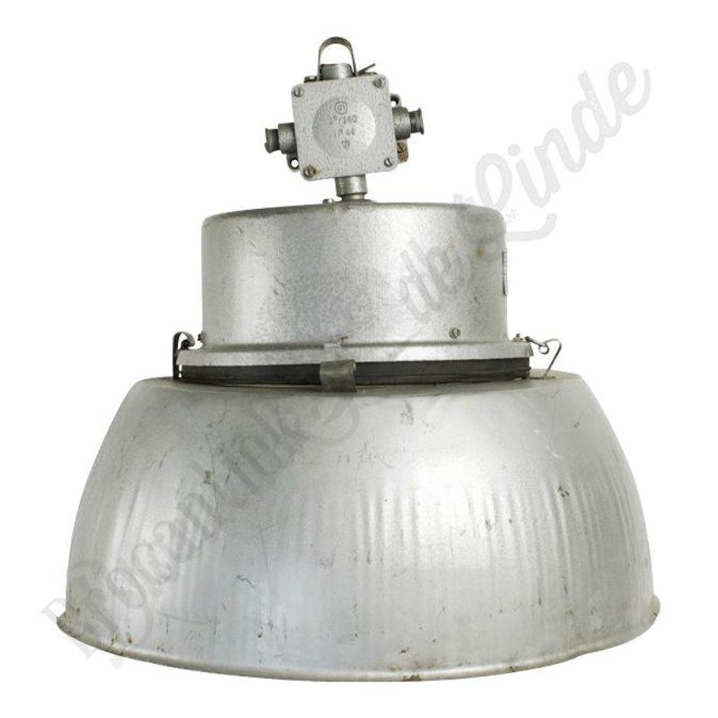 "Originele oude fabriekslamp ""Borek"" - vintage hanglamp"