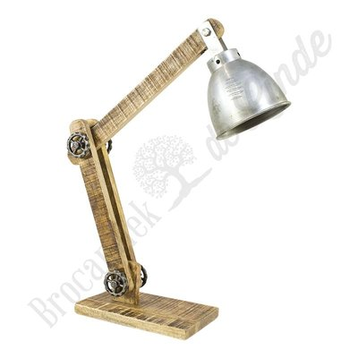 "Bureaulamp ""Wood & Iron"""