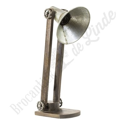 "Bureaulamp ""Wood & Silver"""
