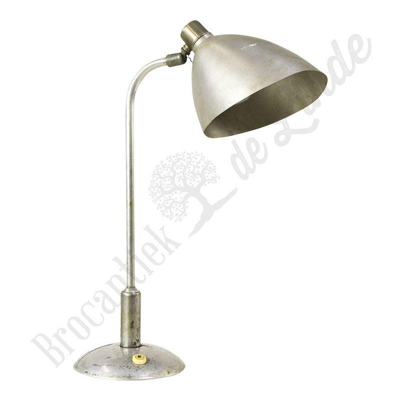 "Industriële, vintage bureaulamp ""Gooseneck aluminium"""