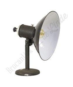 Bureaulamp zwart emaille