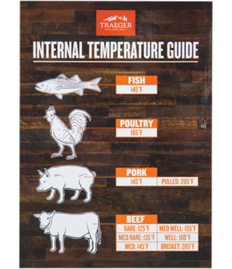 Traeger Grills Internal Temperature Guide Magnet