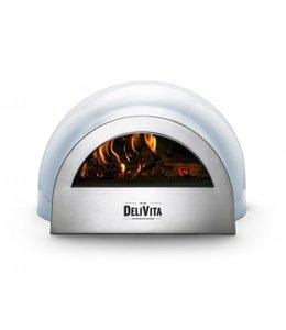 Delivita Delivita houtgestookte pizza-oven blauw retro