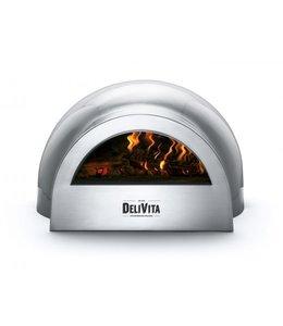 Delivita Delivita houtgestookte pizza-oven grijs
