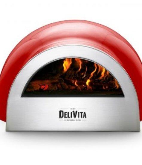 Delivita DeliVita houtgestookte pizza-oven rood