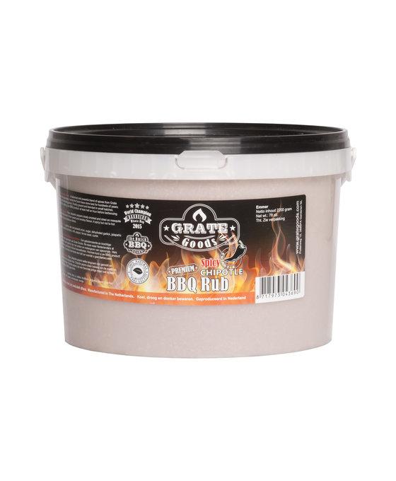 Grate Goods Spicy Chipotle BBQ Rub Emmer 2,2 kilo