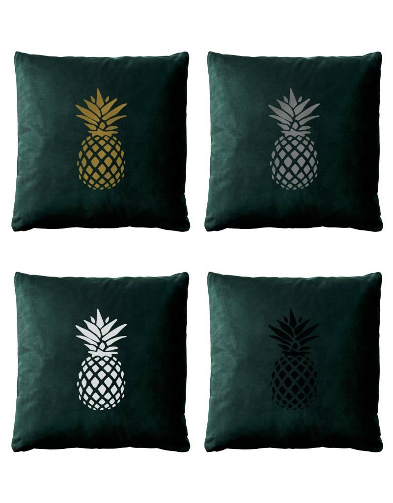 livstil Samt-Kissen - Ananas