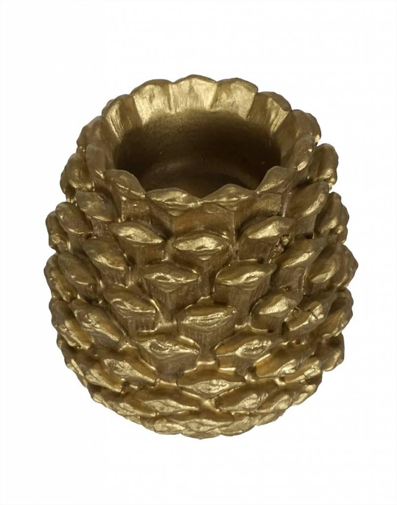 livstil Zapfen Kerzenhalter Gold