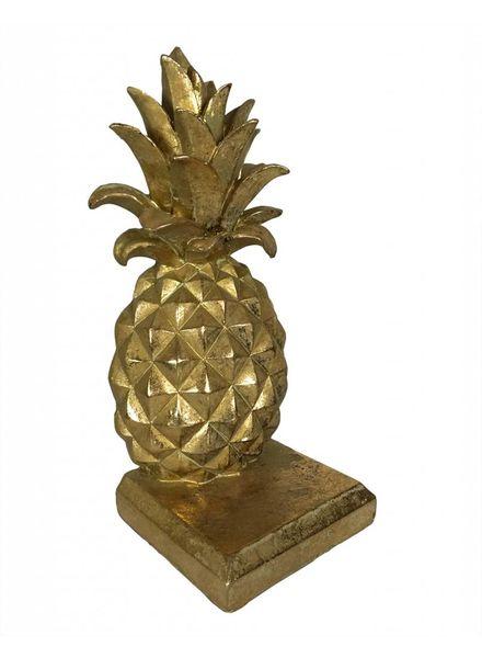 livstil Goldene Buchstütze Ananas