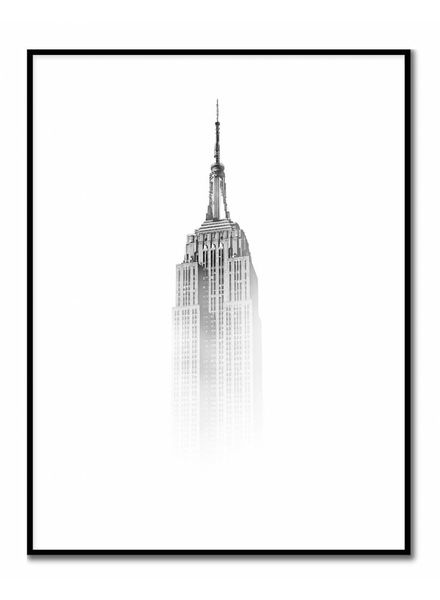 livstil Empire State Building im Nebel