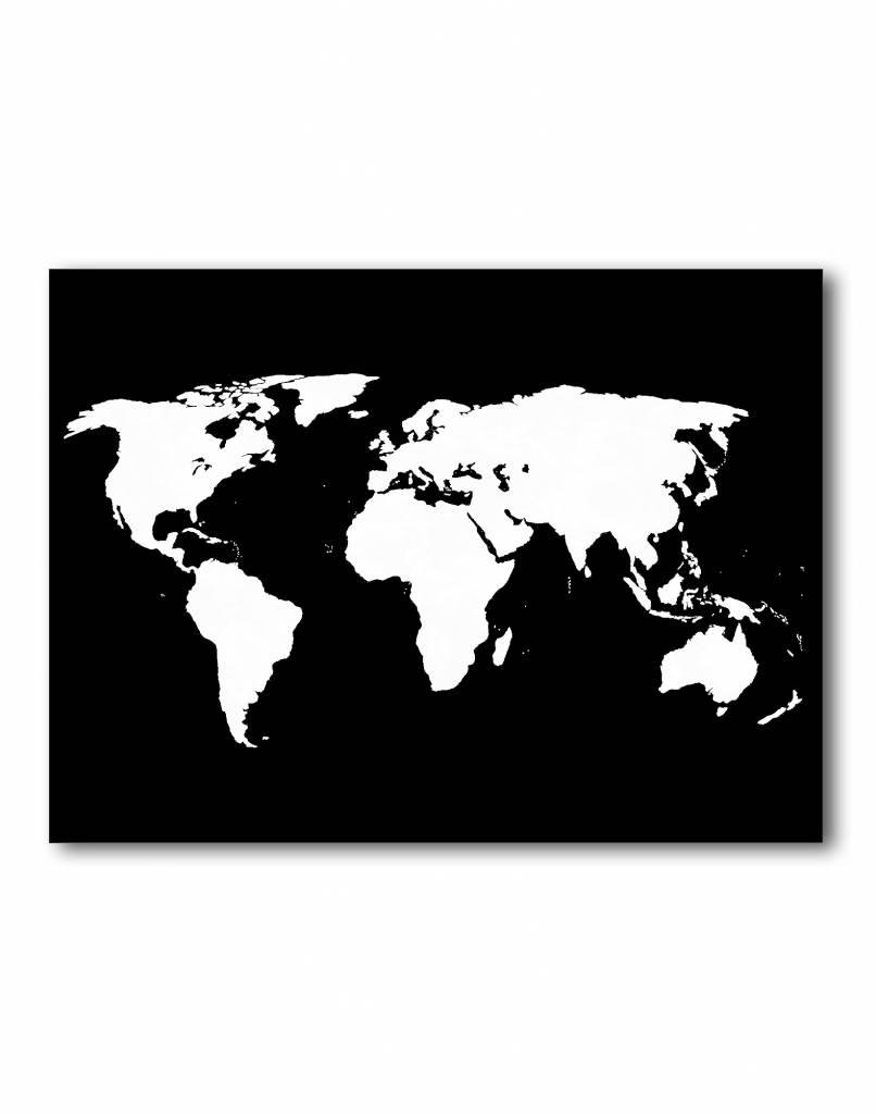 livstil Weltkarte Schwarz