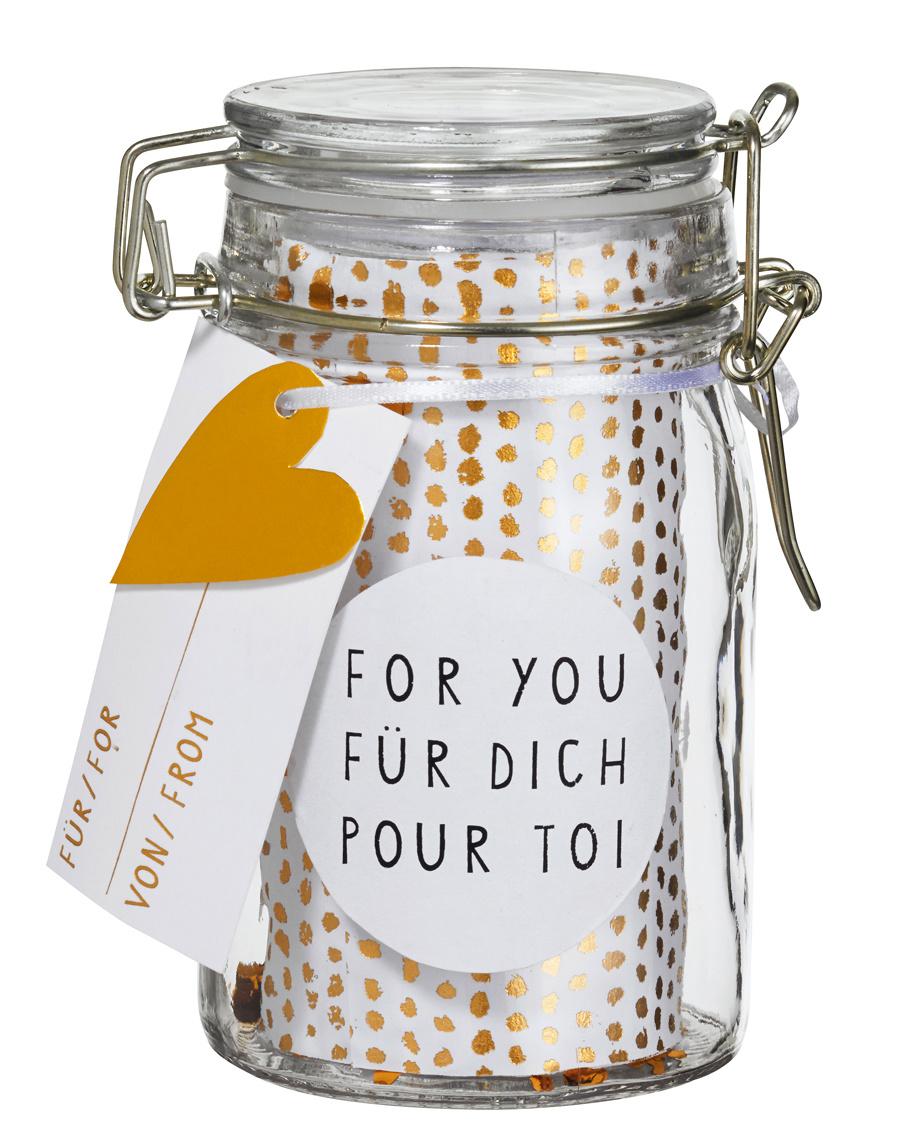 Räder Geschenkglas ,,FOR YOU''