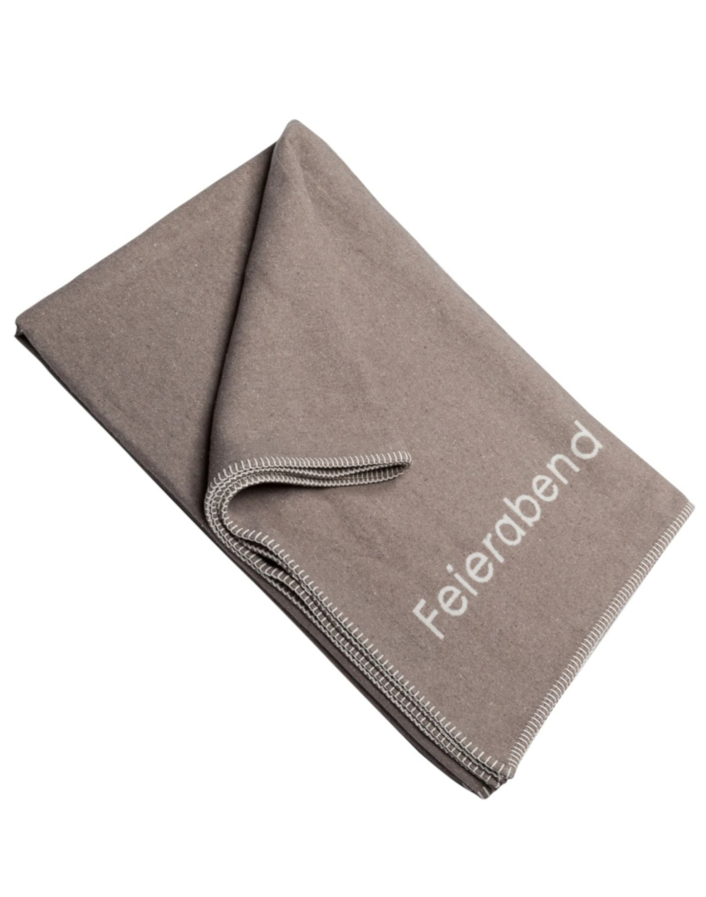 Decke ,,FEIERABEND'' Taupe/Beige
