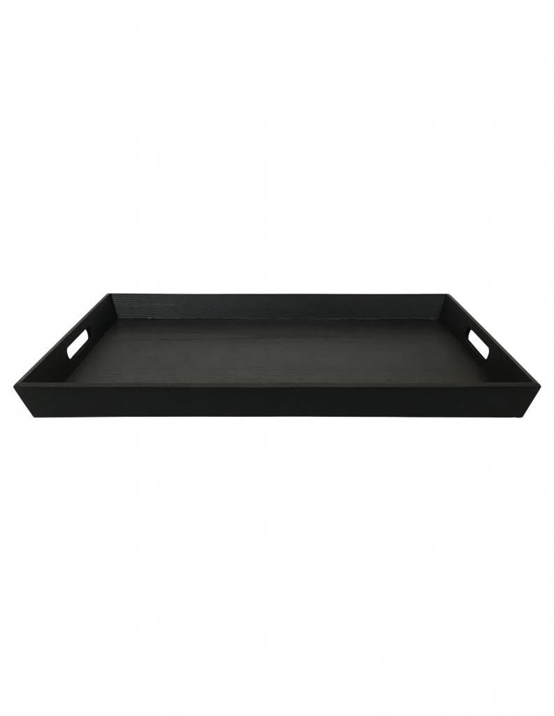 speedtsberg Tablett rechteckig Pinie schwarz