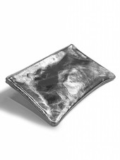 livstil Clutch/Kosmetik Silber-Metallic