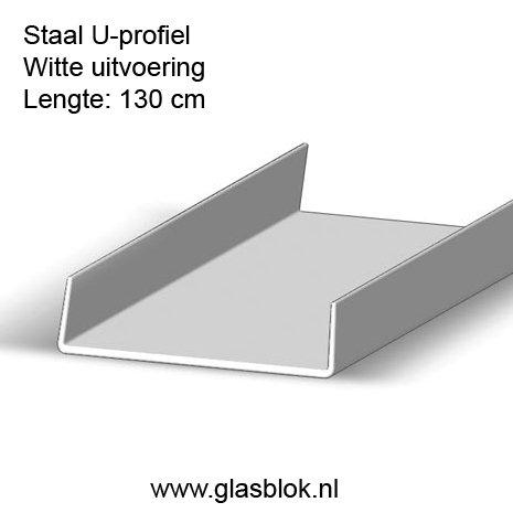 Witte afdekstrip 130cm x 8cm
