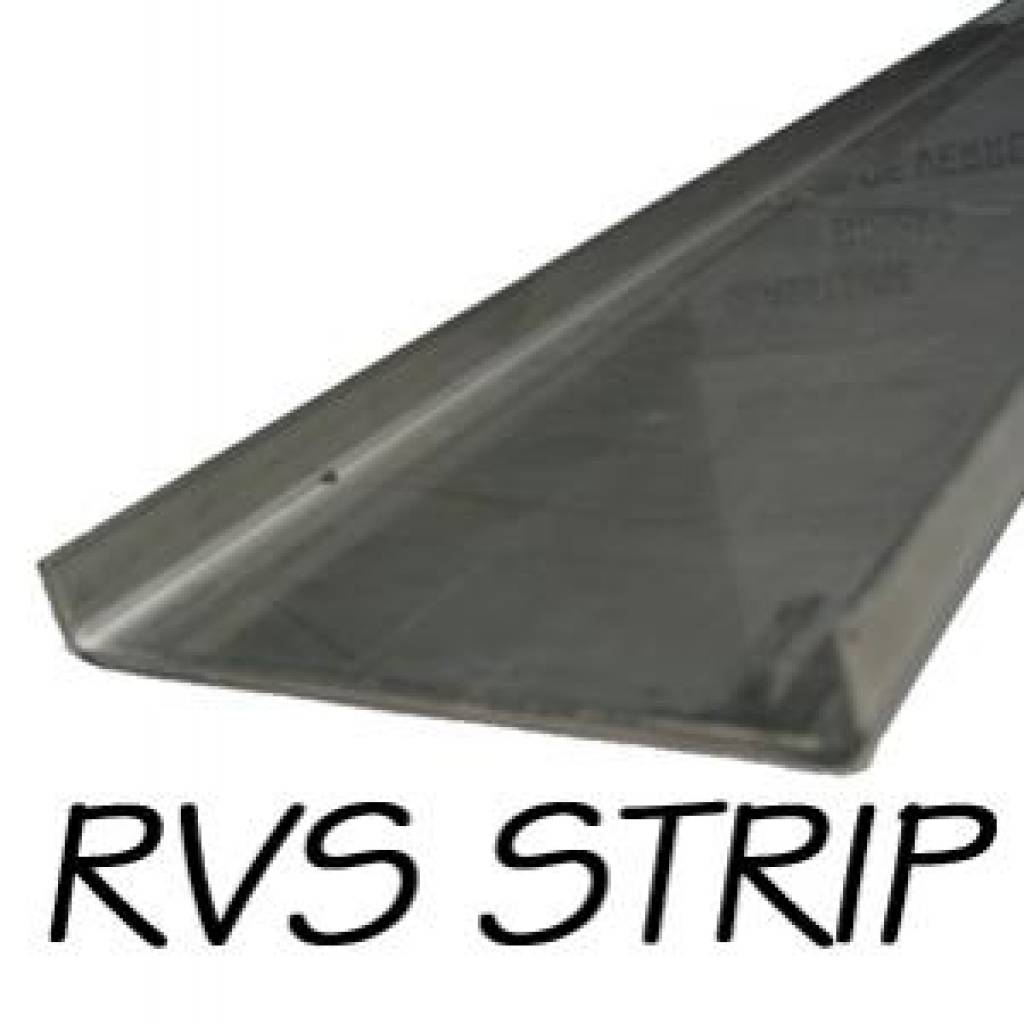 RVS Afdekstrip 260cm x 10cm