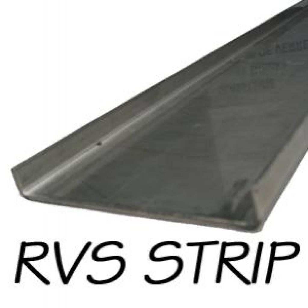 RVS Afdekstrip 130cm x 10cm