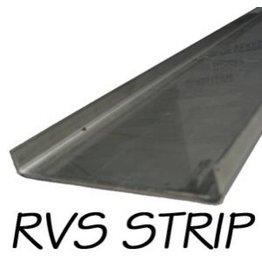 Stainless steel U-profile 130x8cm