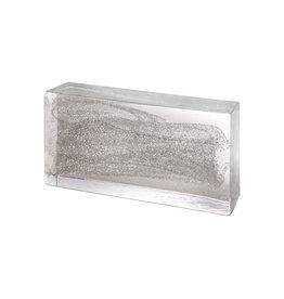 Poesia 4 x Glass brick Silver
