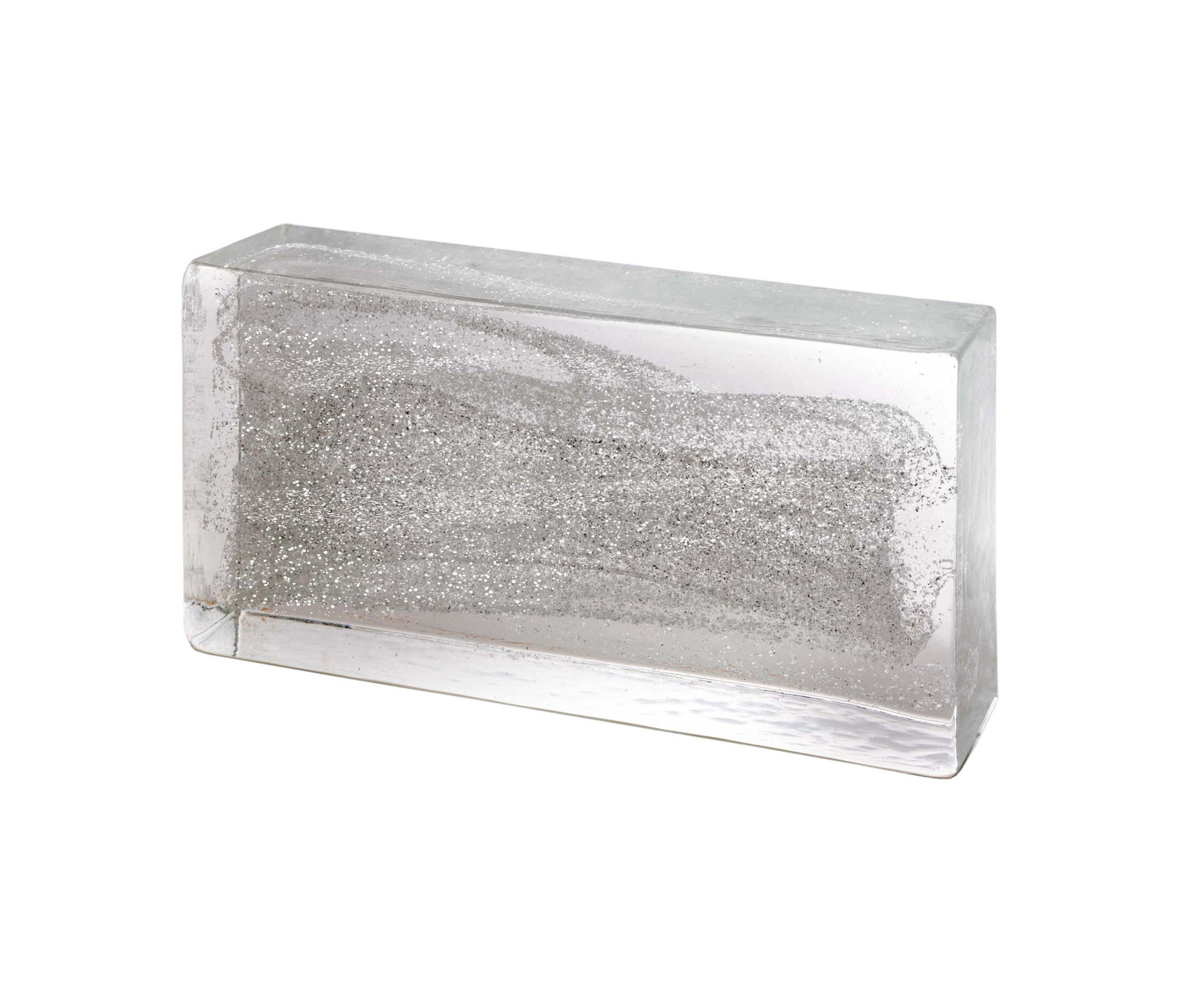 Poesia 4 x Glass brick Silver
