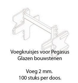 Seves Voegkruisjes 2mm voor Pegasus stenen