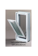 Bouwglas Window for 1x2 pc. glassblock 189x384x80mm