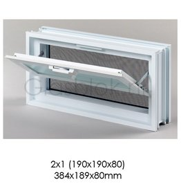Bouwglas Window for 2x1 pc. glassblock