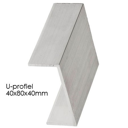 Aluminium U-profiel 40x80x40