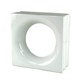 Bouwglas Decoblok round white 6pc.