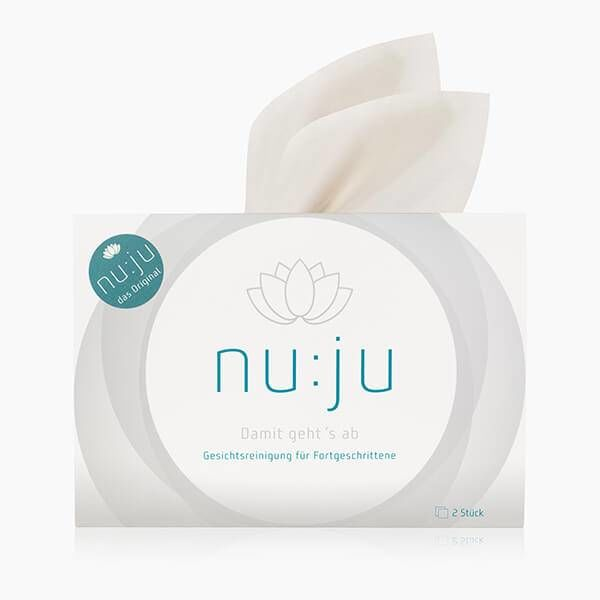 "nu:ju® BEAUTY nu:ju Microfibre facial cleansing cloth ""THE ORIGINAL"" made of Evolon®, silver-ionised 