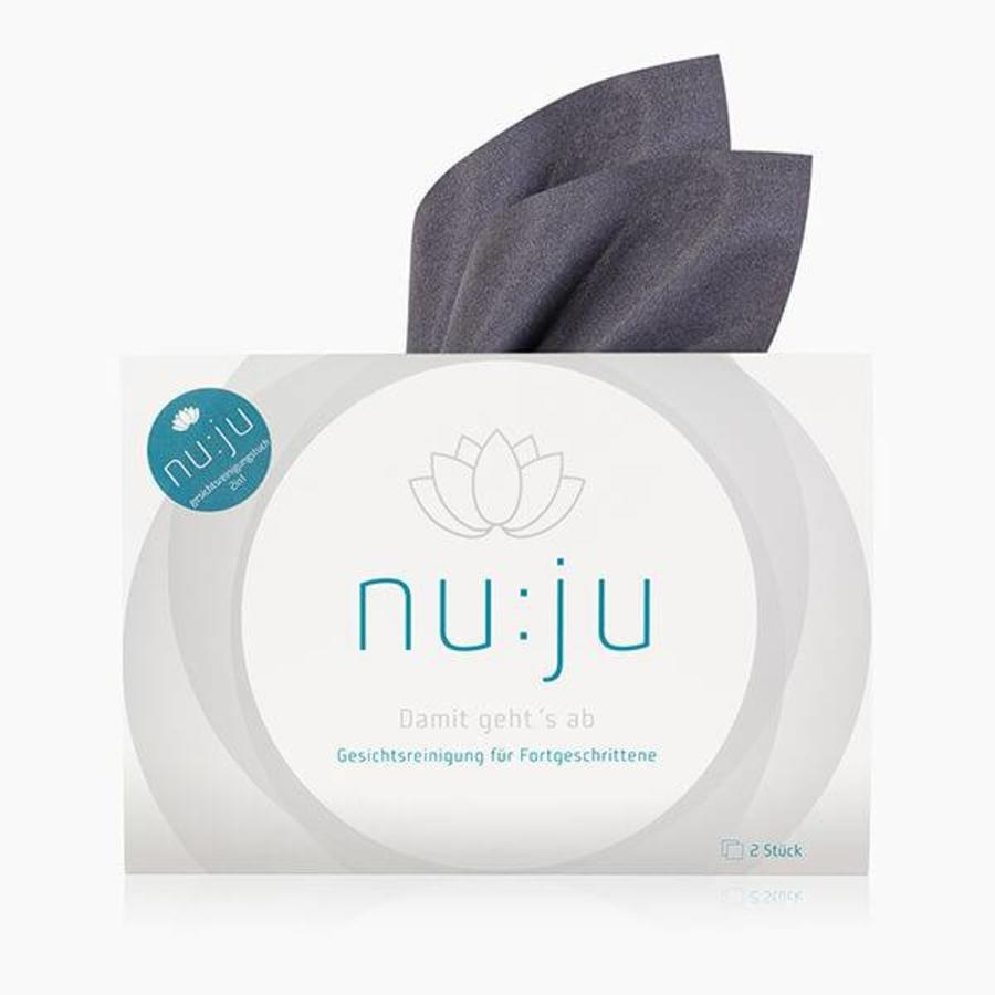 nu:ju® BEAUTY Microfiber facial cleansing cloths 2in1 made of Evolon® | Pack of 2 incl. case