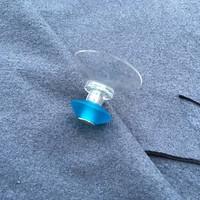 FairWerk Saugnapfhaken handgefertigt aus Glas in Türkis | 1 Stück