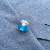 FairWerk Suction cup hook handmade from glass in turquoise | 1 piece